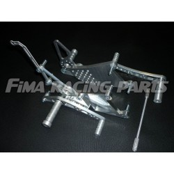 YZF R1 04-14 FiMA Fußrastenanlage Silber Yamaha