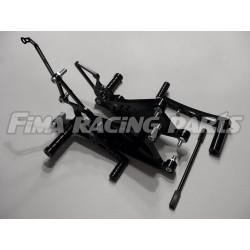 YZF R1 04-14 FiMA Fußrastenanlage Schwarz Yamaha