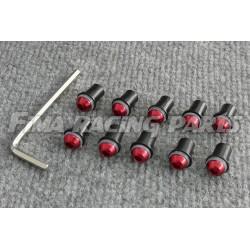 10 Schrauben für Verkleidungsscheibe rot inkl Imbus