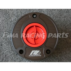 filler cap Suzuki 3 Bolts black/red
