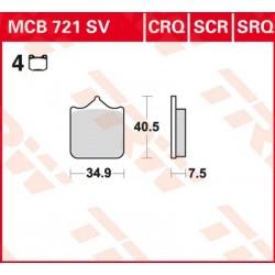 Bremsbelag vorne MCB 721CRQ TRW Lucas Aprilia