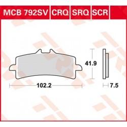 Bremsbelag vorne MCB 792CRQ TRW Lucas Ducati