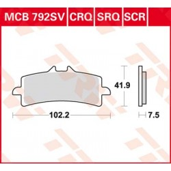 Bremsbelag vorne MCB 792SCR TRW Lucas Ducati