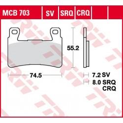 Bremsbelag vorne MCB 703CRQ TRW Lucas Ducati