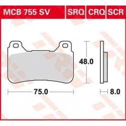 Bremsbelag vorne MCB 755SV TRW Lucas Honda