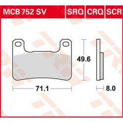 Bremsbelag vorne MCB 752SRQ TRW Lucas Kawasaki