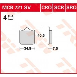 Bremsbelag vorne MCB 721SRQ TRW Lucas Aprilia