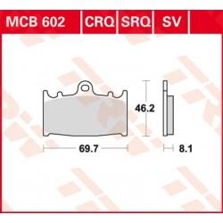 Bremsbelag vorne MCB 602SRQ TRW Lucas Suzuki