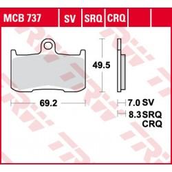 06-08 Bremsbelag vorne MCB 737SV TRW Lucas Triumph