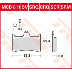 Bremsbelag vorne MCB 611SCR TRW Lucas Yamaha