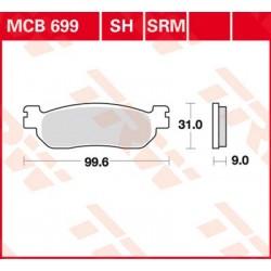 Bremsbelag hinten MCB 699SH TRW Lucas Yamaha